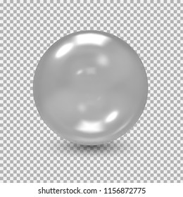 Glass ball. Glass sphere. Bubble. Vector illustration