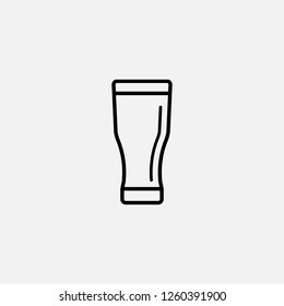 Glass of beer icon. Beer concept symbol design. Stock - Vector illustration can be used for web