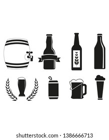 glass of beer vector icon