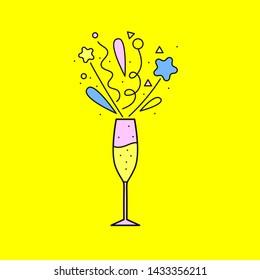 Vectores, imágenes y arte vectorial de stock sobre Champagne