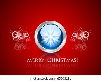 Glass Christmas ball with a snowflake