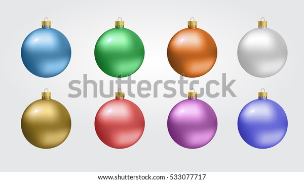 Glass Christmas, new-year toy on a transparent background.  Vector illustration