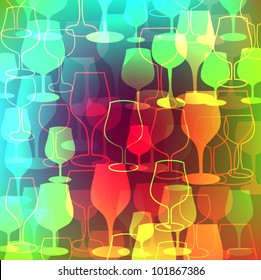 glass colorful background