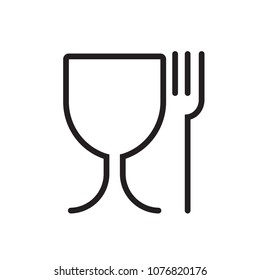 glass fork  vector icon
