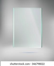 Glass frame, vector illustration