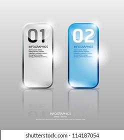 Glass framework set. Transparent glass plates/ Vector illustration/ Suitable for infographics/ graphic design or web design