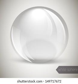 Glass glossy sphere