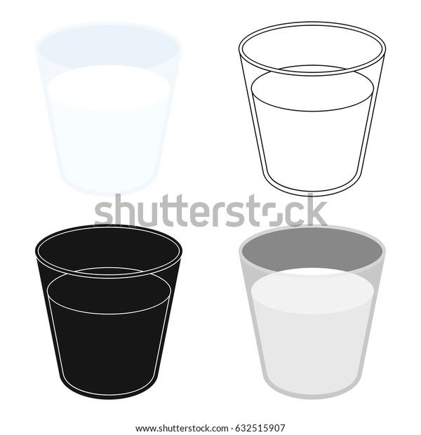 Glass milk icon cartoon. Single bio, eco, organic product icon from the big milk cartoon.