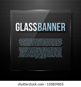 Glass panel. Vector illustration for your business presentations.