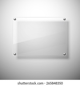 Glass plate. Realistic vector. Vector illustration.