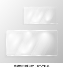 glass plate, vector template, banner