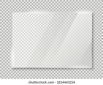 Glass plates realistic icon isolated on background. Vector illustration. Eps 10