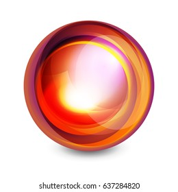 Glass sphere, futuristic abstract element. Vector illustration for your text, photo inside or message.