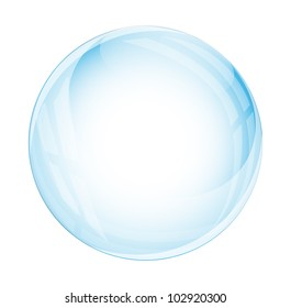 Glass sphere isolated on white