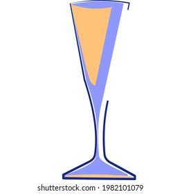 Glass spirit liguer vector logo
