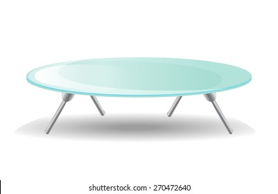 Glass Table. Vector