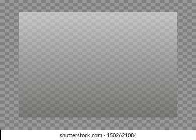 Glass transparent on a transparency grid of different sizes.