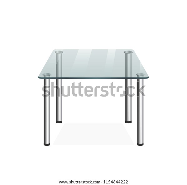 Glass Transparent Table Vector Stock Vector Royalty Free 1154644222