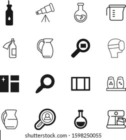 glass vector icon set such as: marketing, delivery, man, group, headset, coffee, reality, clean, discovery, vr, kitchenware, augmented, holiday, natural, plastic, game, celebration, people, diet