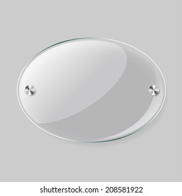 Glass vector oval plane. Easy editable background color