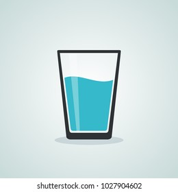 glass water icon isolated design