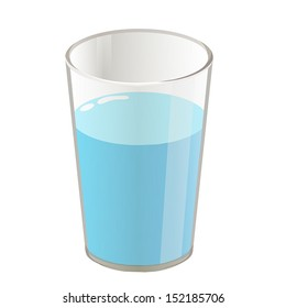 Glass of Water Cartoon Images, Stock Photos & Vectors ...