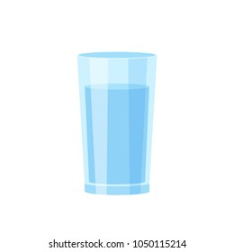 Glass of water isolated vector illustration on white background
