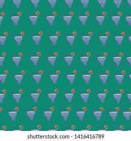 Glass of water. Seamless vector pattern. It can be used for any print.