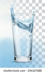 Glass of water, vector illustration