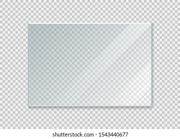 glass windowisolated on white background. Vector illustration. Eps 10.