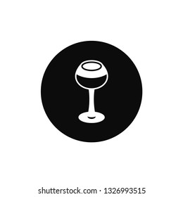 Glass of wine rounded icon
