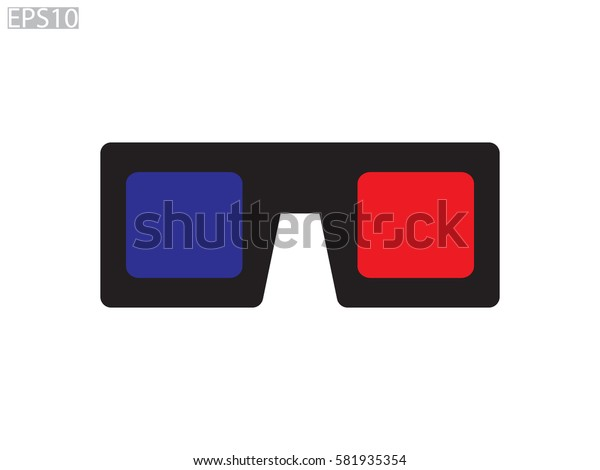 glasses for cinema icon, vector illustration eps10