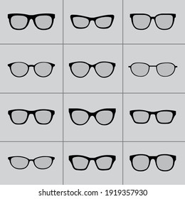 Glasses collection icon,symbol and vector,Can be used for web, print and mobile