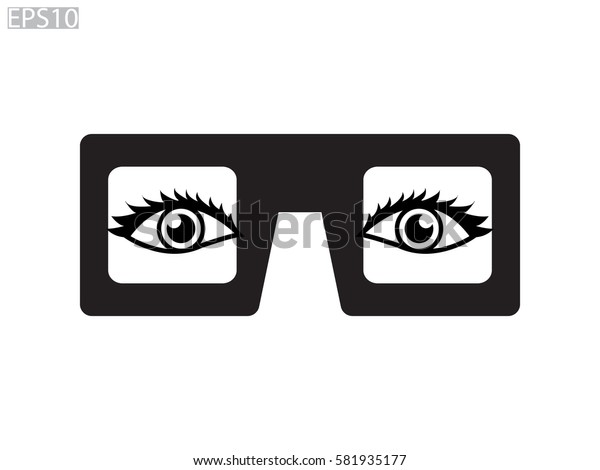 glasses, eye, icon, vector illustration eps10