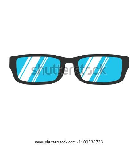 a1b1c9ecd7b Glasses eye vector isolated object accessory. Wear fashion eyesight man  symbol. Business concept illustration plastic frame icon art.