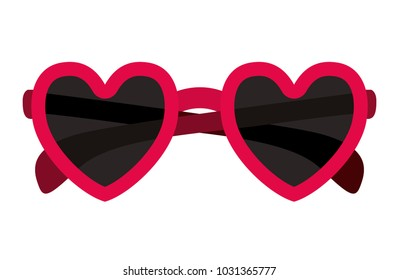 glasses with heart shape
