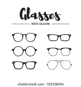 Glasses hipster collection