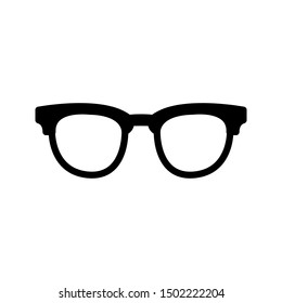 Glasses icon on white background. Optical concept.