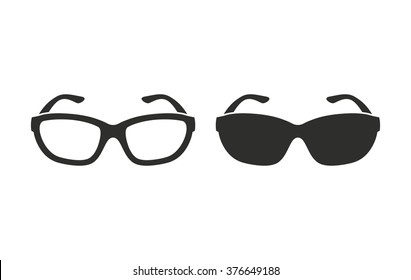 Glasses  icon  on white background. Vector illustration.