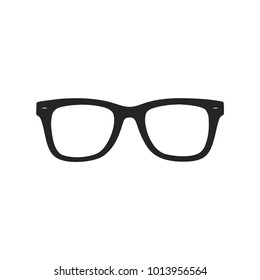 Glasses icon vector, eyeglasses symbol. Accessory pictogram, flat vector sign isolated on white background. Simple vector illustration for graphic and web design.