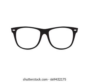 Glasses icon. Vector illustration.