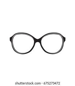 Glasses icon. Vector illustration