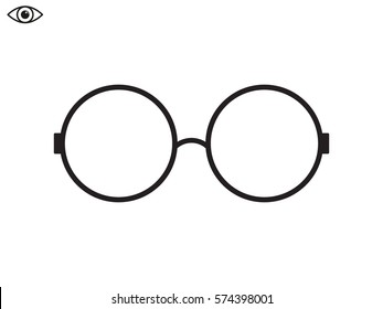 glasses, icon, vector illustration eps10