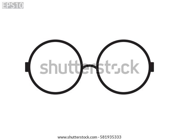 glasses, icon, vector illustration eps10