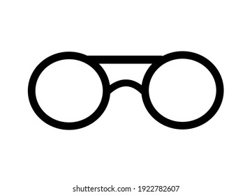 Glasses icon, vector illustration. Flat design style. vector glasses icon illustration isolated vector icon for apps and website