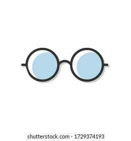 Glasses icon vector illustration isolated on white.
