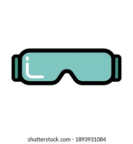 Glasses icon vector illustration isolated on white