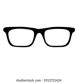 Glasses in illustration vector design isolated on white background. Object.