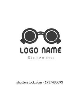 glasses logo icon vector template design illustration