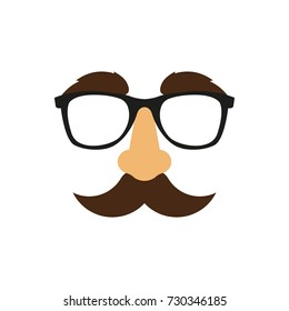 Glasses, nose mask. Vector. Isolated.